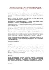 convention sur l interdiction 10 decembre 1976