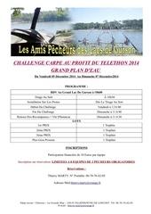 programme challenge carpe telethon decembre 2014