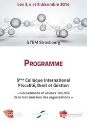 programme fdg 2014