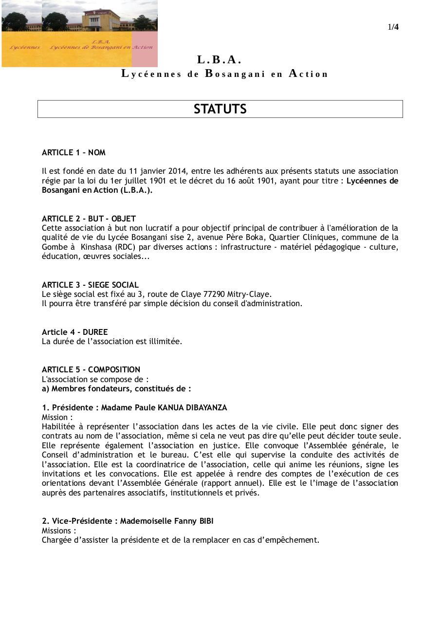 Statuts Par At2e Fichier Pdf