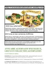 annuaire alternatif caravane des alternatives novembre 2014