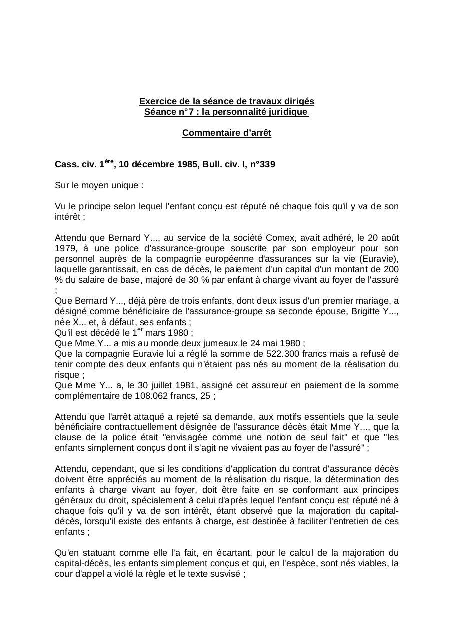 Commentaire d'arrêt par Administrateur - Fichier PDF