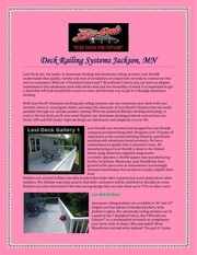 deck railing systems jackson mn