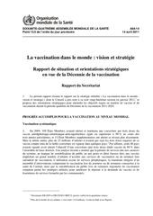 oms la vaccination dans le monde vision strategie