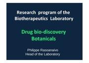 rasoanaivo drug bio discovery botanicals