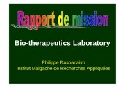rasoanaivo report bio therapeutics