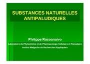 rasoanaivo substances naturelles antipaludiques