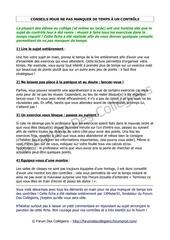 Fichier PDF conseils pour ne pas manquer de temps a un controle