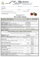 pyrenees xmas menu 2014