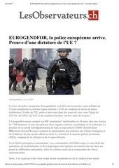 eurogendfor la police europeenne arrive