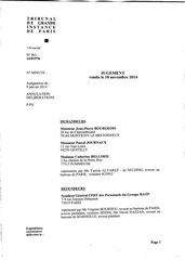 jugement cfdt ratp 18 novembre 2014