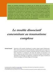 le trouble dissociatif concomitant au traumatisme complexe