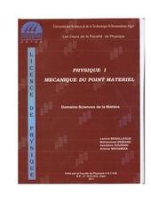 polycopie cours de mecanique phys1