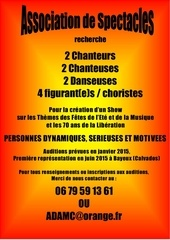 affiche auditions spectacles 2015