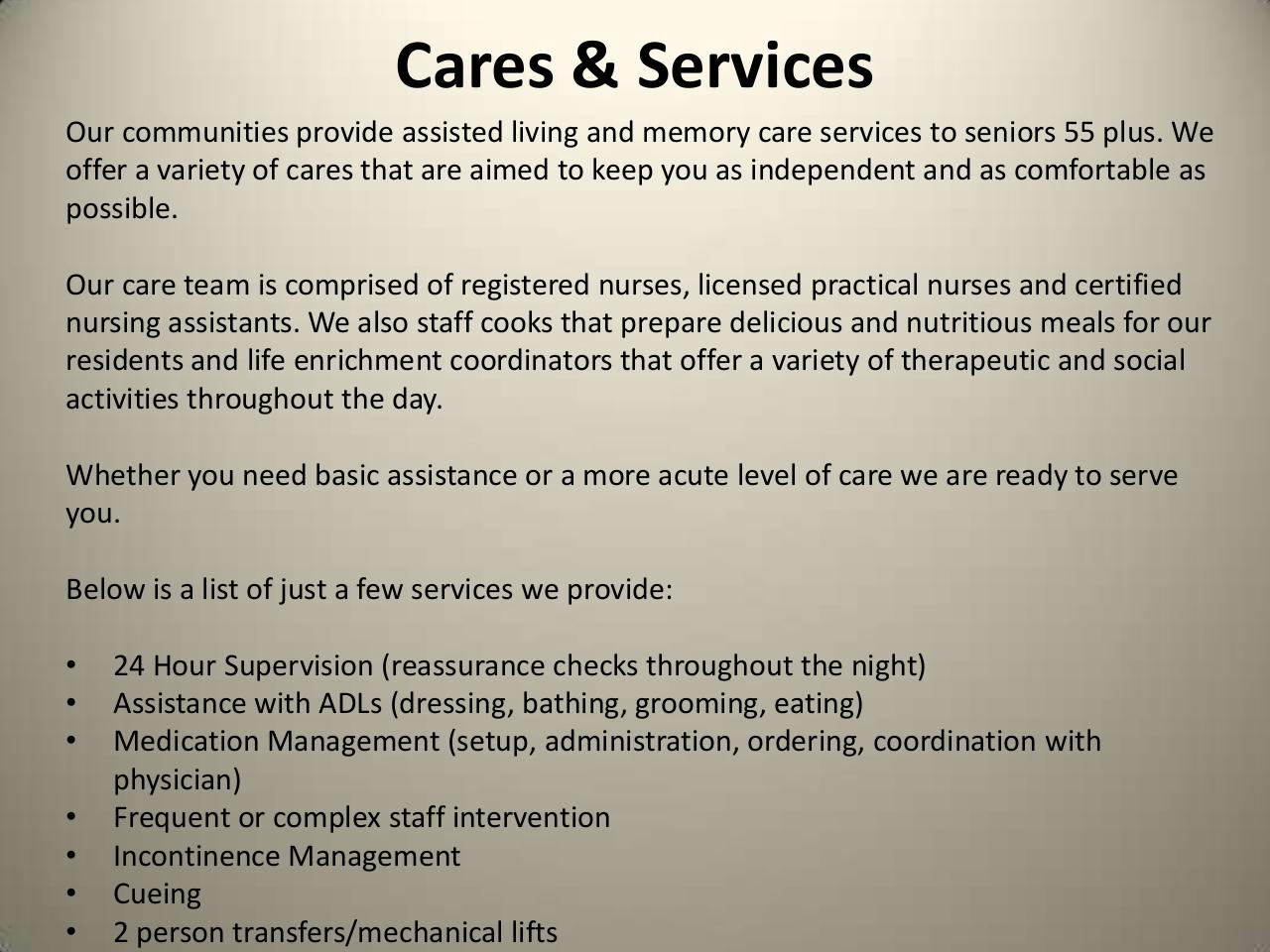 Assisted Living and Memory Care Services.pdf - page 2/4