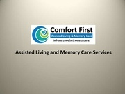 assisted living and memory care services