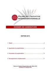 dossier de candidature 2015