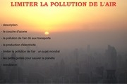 Fichier PDF expose sur la pollution de l air