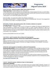 programme migrantts scene 2014 pour vous et vos ami e s