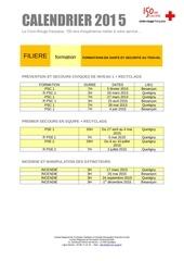 calendrier sst 1er semestre 2015