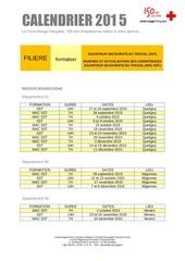 calendrier sst 2eme semestre 2015