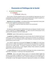 economie et politique de la sante seance 2