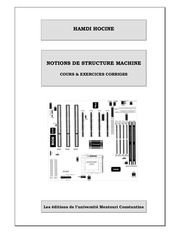 notions de structure machine