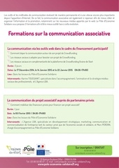 programme formations sur la communication associative