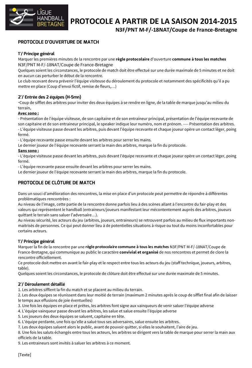 Protocole coupe de par raymond legrand fichier pdf - Coupe de france 2014 2015 ...
