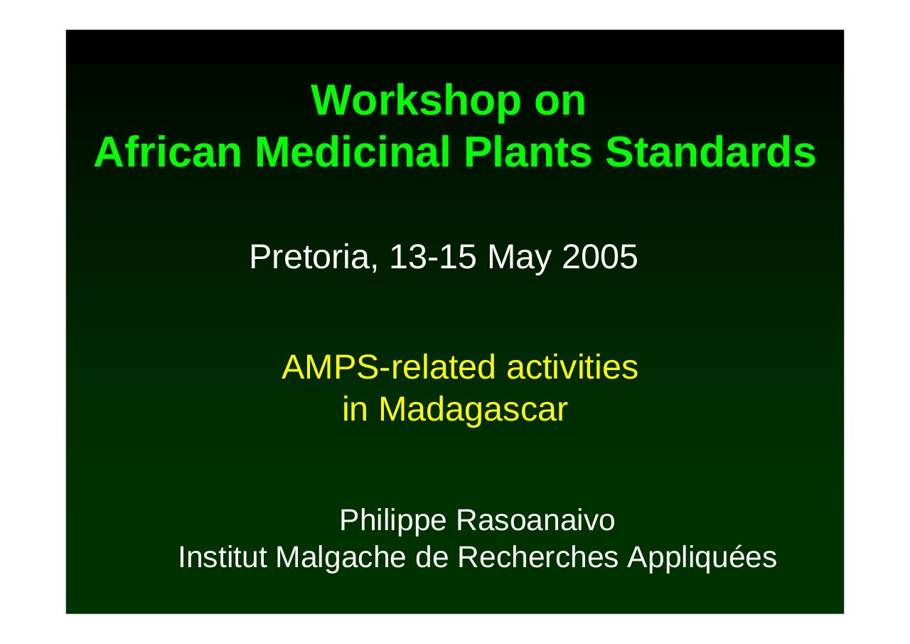 RASOANAIVO_AMPS-related activities in Madagascar.pdf - page 1/8