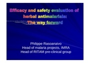 rasoanaivo efficacity of herbal antimalarial