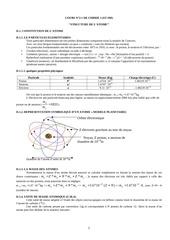 cours 2 1 de chimie 1 structure de latome