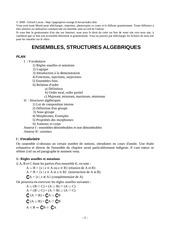 ensembles structures algebriques