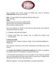 inscription formation journee psychomotricite iefap
