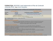 iso22301 lead implementer et pca