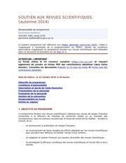 reglement concours frqsc 2014