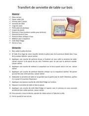 Fichier PDF transfert de serviette de table sur bois