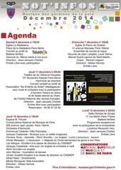 agenda mgpx decembre 2014