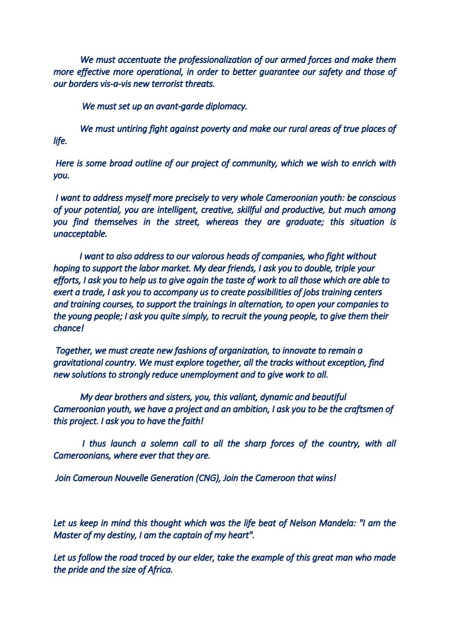 CALL TO THE CAMEROONIAN PEOPLE.pdf - page 4/5