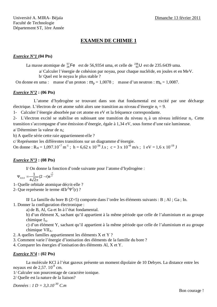 Examen Chimie (2011) ST.pdf - page 1/4
