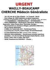 annonce wailly beaucamp cherche medecin
