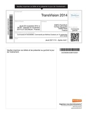 billets transvision