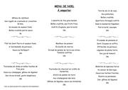 menu fringale noel 2014
