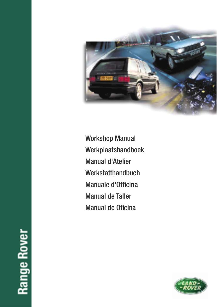 Range Rover Workshop Manual Eng Par Alison Rogers Wiring Diagram Pdf Engine Scheme For Your P38 Roverpdf Page 1 1361