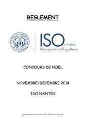 reglement concours de noel 2014