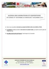 agenda du samedi 29 novembre au dimanche 7 decembre 2014