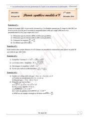 devoir synthese modele n1 1ere annee