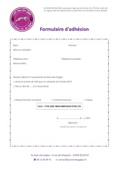 formulaire d adhesion