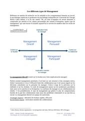 2014 10 20 cours 5 les differents types de management