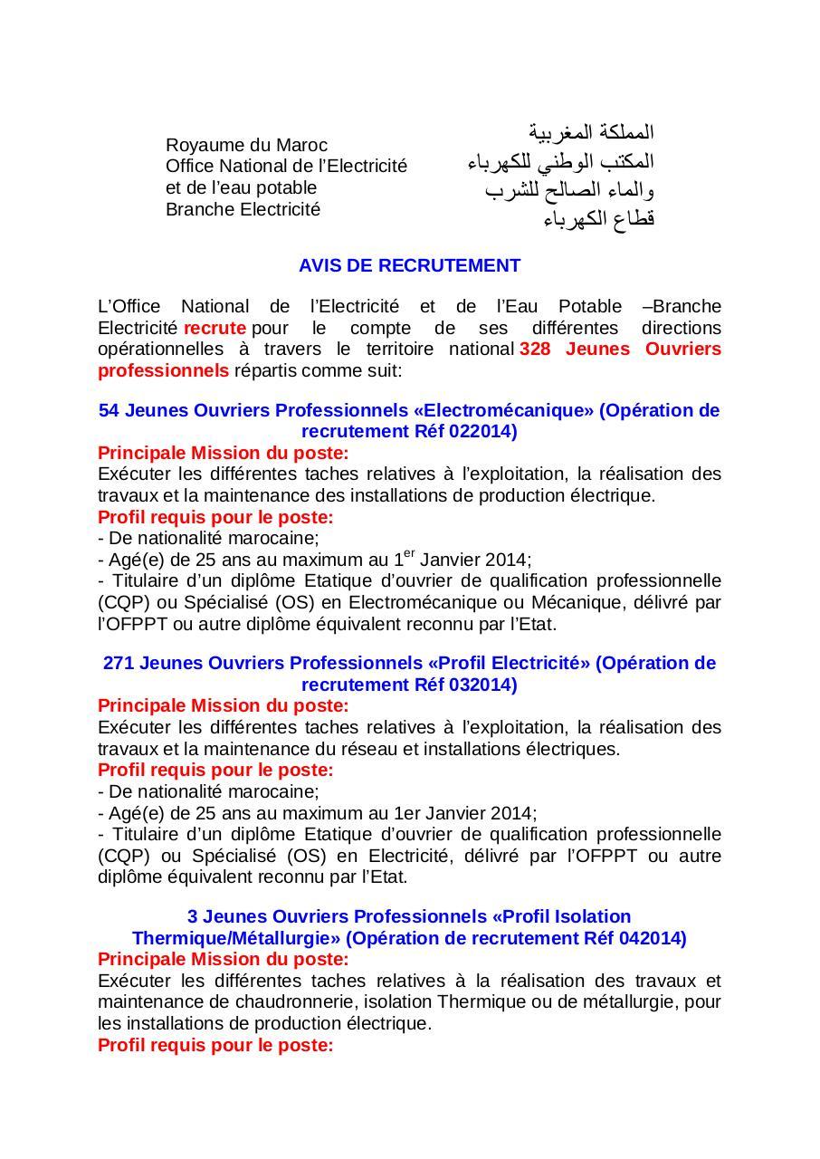 Concour onee par admin fichier pdf - Office national de l eau et des milieux aquatiques ...